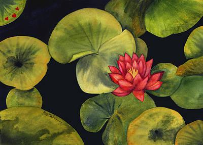 Healing Art Painting - Lotus Light Jade by Leslie Marcus