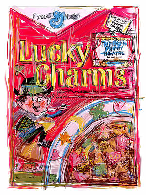 Lucky Mixed Media - Lucky Charms by Russell Pierce