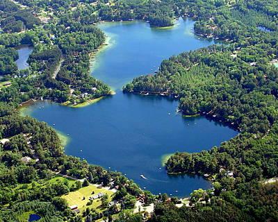 Photograph - M-027 Minor And Dake Lakes Chain O Lakes Waupaca by Bill Lang
