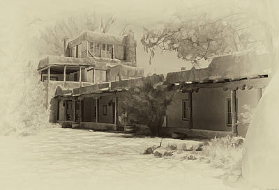 Photograph - Mabel's Courtyard As Antique Print by Charles Muhle