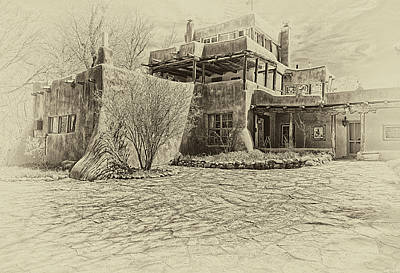Taos Digital Art - Mabel's House As Antique Print by Charles Muhle