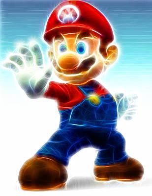 Mario Art Print by Paul Van Scott