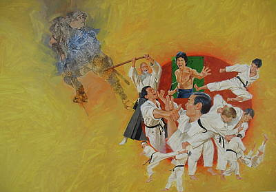 Martial Arts Art Print by Cliff Spohn