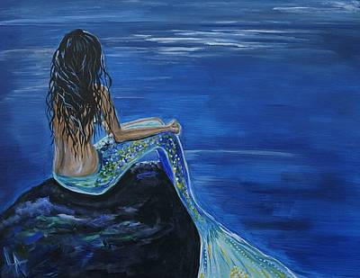 Pictur Painting - Mermaid Enchantment by Leslie Allen