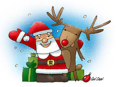 Merry Christmas Art Print by Denys Golemenkov