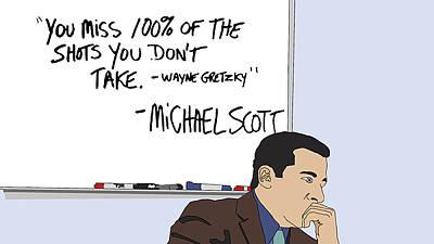 Michael Scott From The Office Art Print by Tomas Raul Calvo Sanchez
