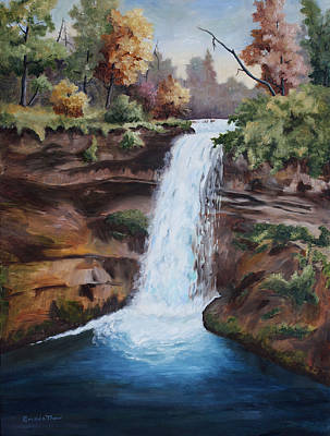 Painting - Minnehaha In The Fall by Brenda Thour