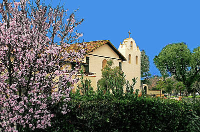 Photograph - Mission Santa Ines by Gary Brandes