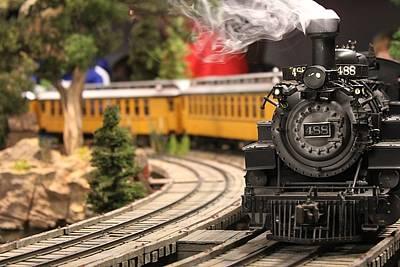 Model Train Art Print