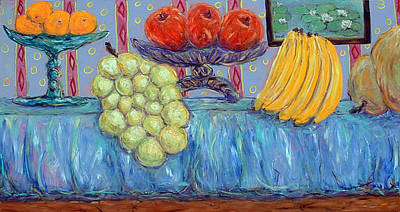 Painting - Modern Still Life With Disproportionate Fruit by Banning Lary
