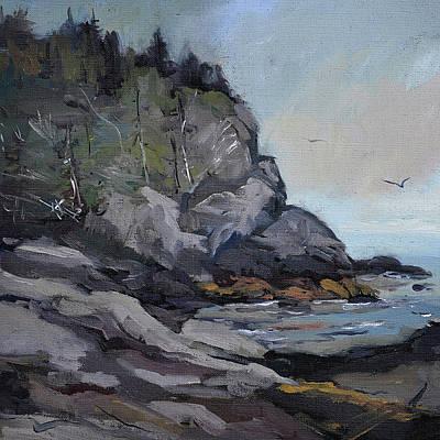 Painting - Monhegan Blackhead by J R Baldini