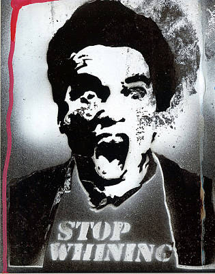 Stencil Art Painting - Mood Police by Robert Wolverton Jr