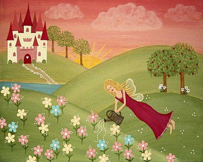 Princess Painting - Morning Dew Fairy by Samantha Shirley