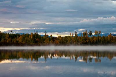 Morning Mist On Hourglass Lake Art Print by Melissa Wyatt