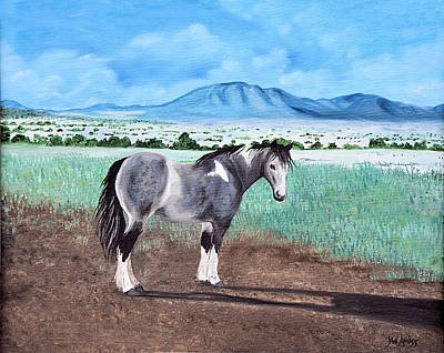 Painting - Mountain Pony by Jan Amiss