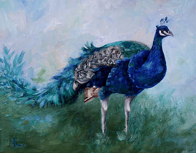 Painting - Mr. Peacock  by Brenda Thour
