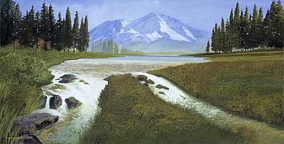 Robert Duvall Painting - Mt. Shasta Landscape by Robert Duvall