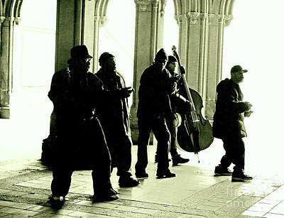 Musicians Royalty Free Images - Musicians in the Park Royalty-Free Image by Sandy Moulder