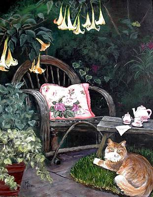 Painting - My Secret Garden by Mary-Lee Sanders