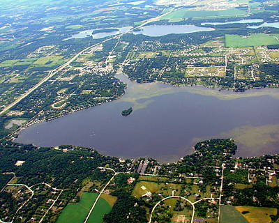 Photograph - N-007 Nagawicka Lake South End Waukesha County Wisconsin by Bill Lang