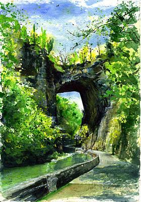 John Benson Painting - Natural Bridge Virgina by John D Benson