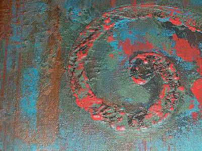 Painting - Neon Scroll by Cheri Stripling