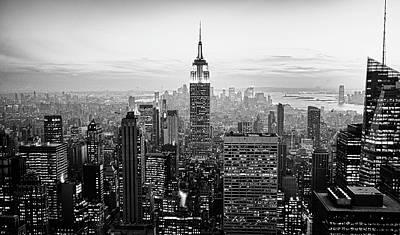 Illuminated Photograph - New York City by Randy Le'Moine
