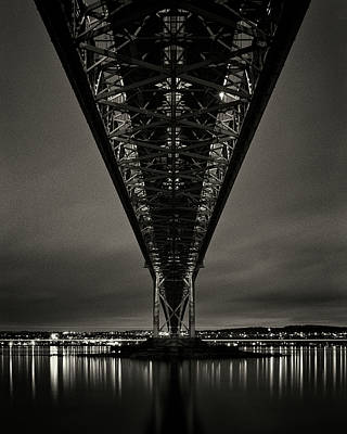 Firth Photograph - Night View Of Forth Road Bridge by Mark Voce Photography