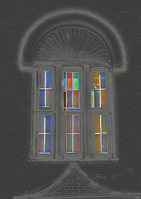 Art Print featuring the photograph Night Window by Larry Bishop