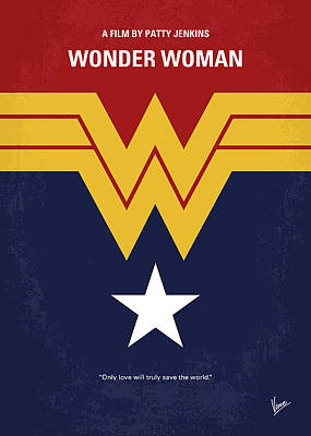 No825 My Wonder Woman Minimal Movie Poster Art Print