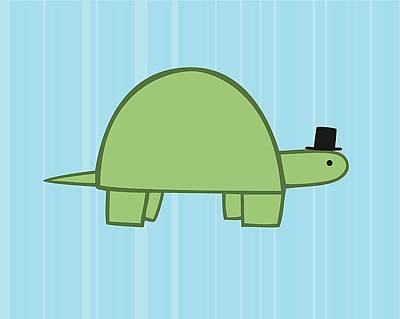 Nursery Art Boy Turtle Art Print