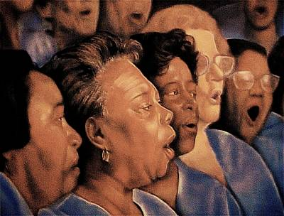 Religious Artist Pastel - O' Happy Day by Curtis James