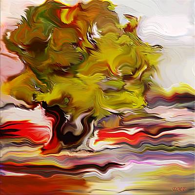 Provence Digital Art - Old Olive Tree by Dragica  Micki Fortuna