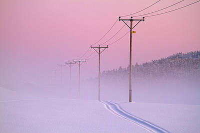 Cold Temperature Photograph - Old Powerlines by www.WM ArtPhoto.se