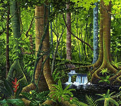 Painting - Osa Peninsula Rainforest by Michael Cranford