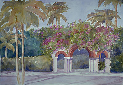 Painting - Palm Beach Gates by Audrey Peaty