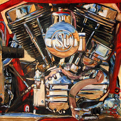 George The Painter Painting - Panhead by George Frizzell