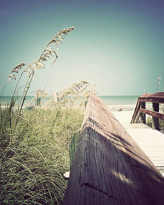 Florida Bridge Photograph - Path To Relaxation-vintage by Chris Andruskiewicz