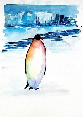 Penguin 2 Art Print