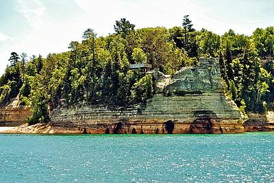 Pictured Rock 6323  Art Print by Michael Peychich