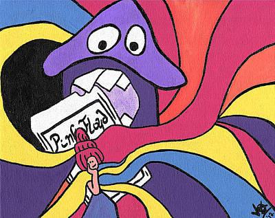 Pink Floyd 8 Track Trip Art Print by Jera Sky