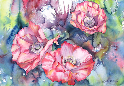 Painting - Pink Poppies by Leslie Redhead