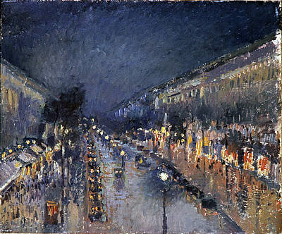 Impressionist Photograph - Pissarro: Paris At Night by Granger