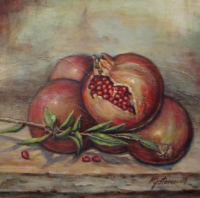 Painting - Pomegranetes by Mirjana Gotovac