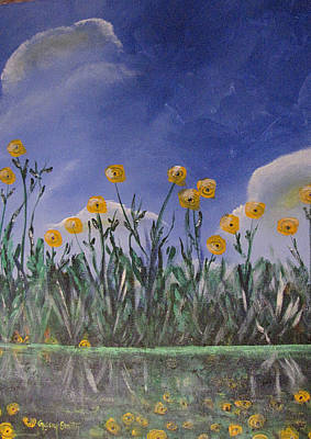 Painting - Pond With Flowers by Gary Smith