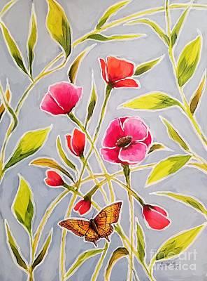 Painting - Poppy Butterfly II by Sandra Lett