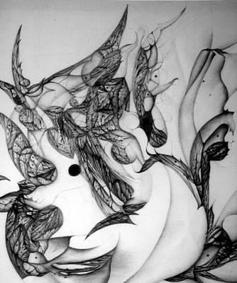 Didgital Art Drawing - Post-modern Woman Detail Ix by Jack Dillhunt