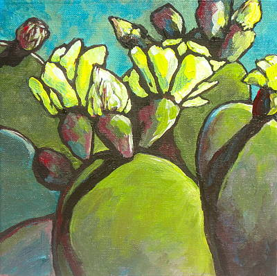 Painting - Prickly Pear In Bloom by Sandy Tracey