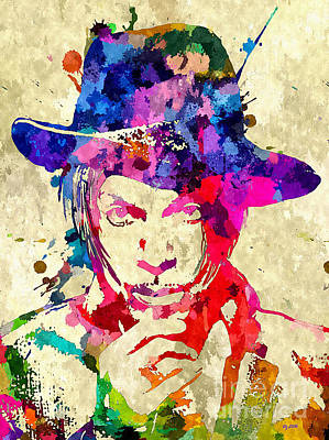 Musicians Royalty Free Images - Prince Musician Grunge Royalty-Free Image by Daniel Janda