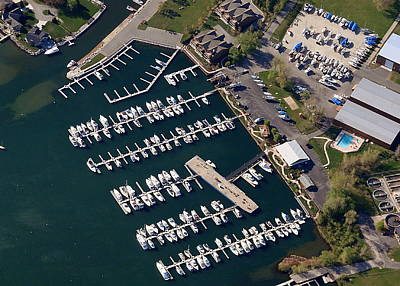 Photograph - Q-001 Quarterdeck Marina Sturgeon Bay Wisconsin by Bill Lang